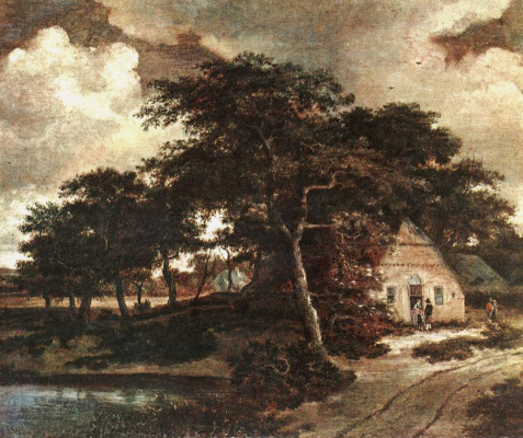 Maydert Hobbema. Cloudy day