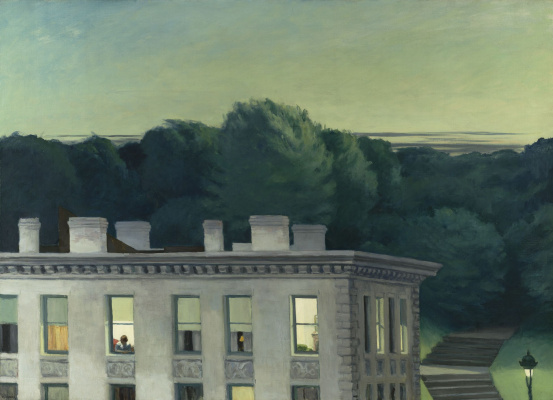 Edward Hopper. The house at sunset
