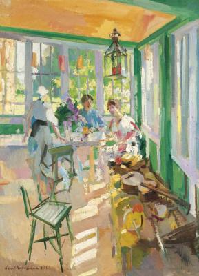 Konstantin Korovin. On the veranda