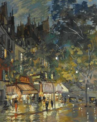 Night cafe in Paris