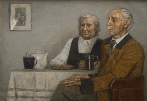 Гелий Михайлович Коржев. Портрет родителей