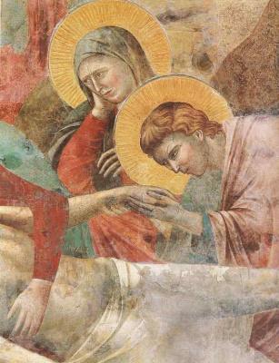 Giotto di Bondone. Cry. Scenes from the New Testament. Fragment