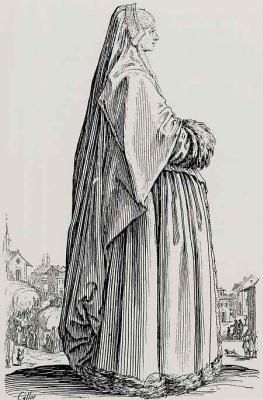 Жак Калло. Дама в длинном покрывале