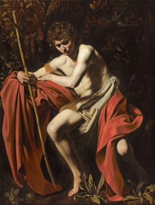 Michelangelo Merisi de Caravaggio. St. John the Baptist in the wilderness