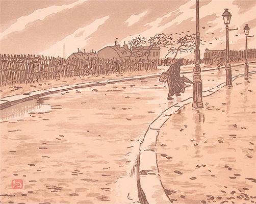 Анри (Henri) Ривьер (Rivière). Улица Ламарка (De la rue Lamark)