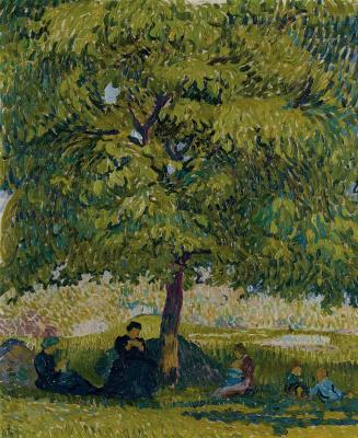 Giovanni Giacometti. Under the walnut tree
