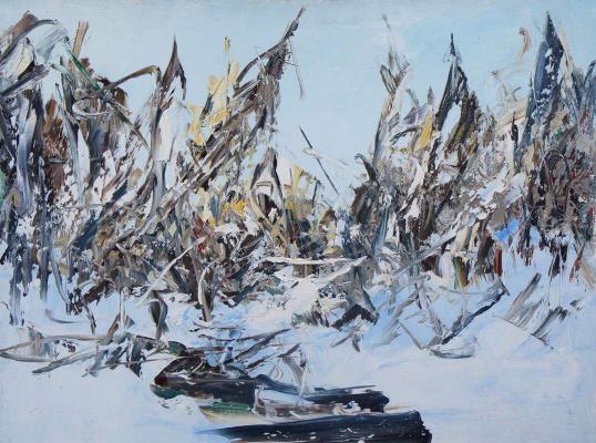 """Valery Ivanovich Ushkov. """"Winter Creek"""""""