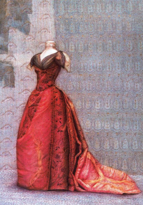 Ковадонга Саррагуа. Красное платье