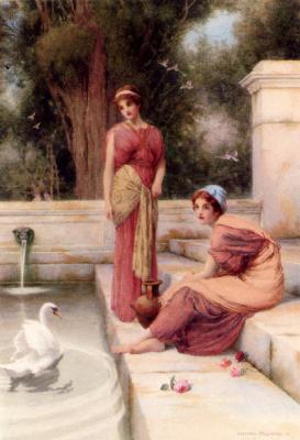 Генри Райленд. Девушки у фонтана