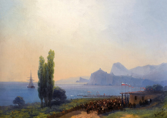 Ivan Aivazovsky. Reception of the Imperial family in Sudak