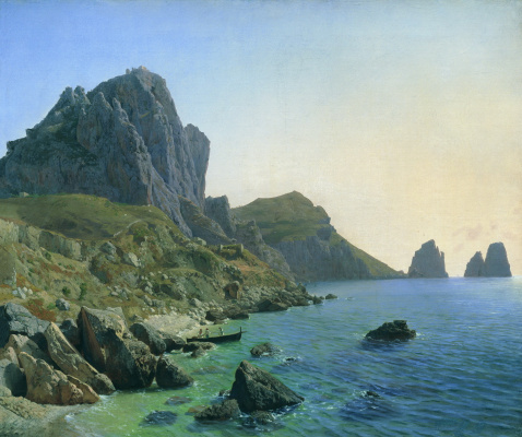 Lev Feliksovich Lagorio. On the island of Capri. Cliffs