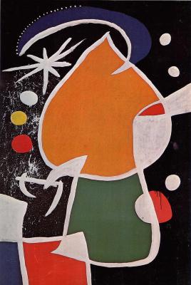 Joan Miro. Woman in the night