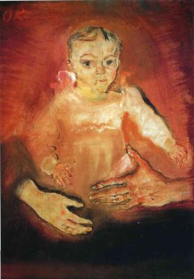 Oskar Kokoschka. Child with parents