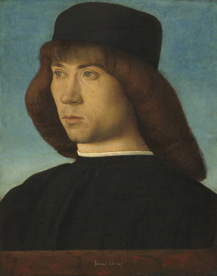 Giovanni Bellini. Portrait of a young man