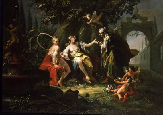 Giovanni Battista Crosato. Fortune teller