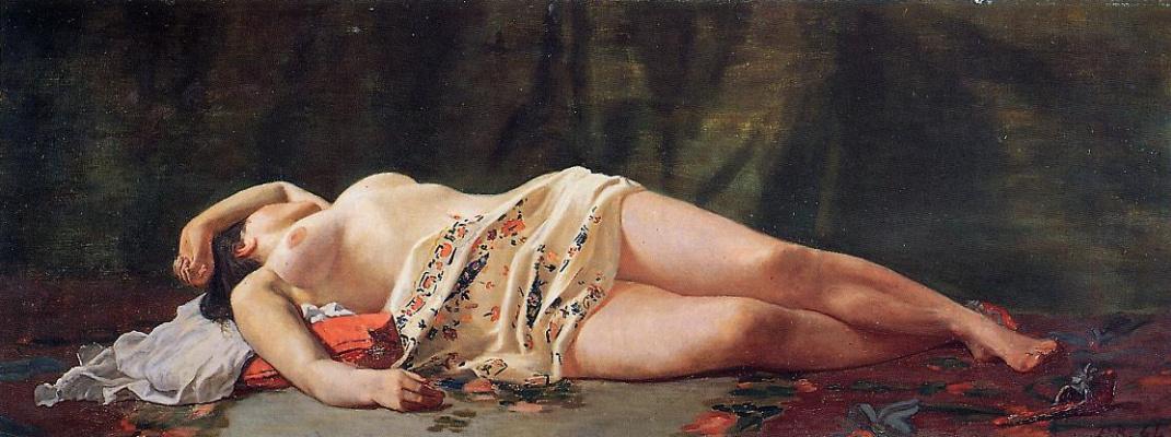 Frédéric Bazille. Reclining Nude