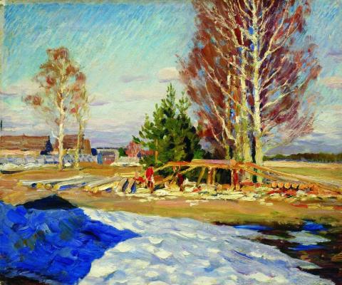 Sergey Arsenievich Vinogradov. Spring landscape