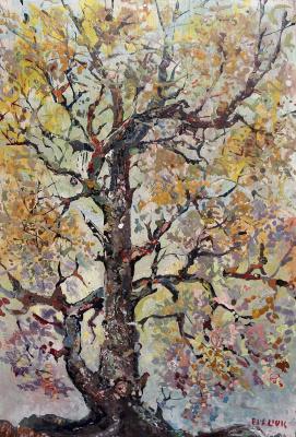 David Davidovich Burliuk. Great Tree in Autumn