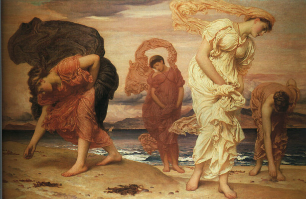 Edmund Blair Layton. Nymphs on the shore