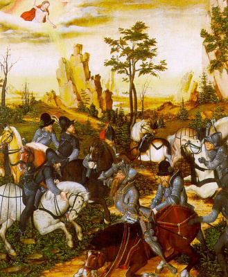 Lucas the Younger Cranach. The phenomenon riders