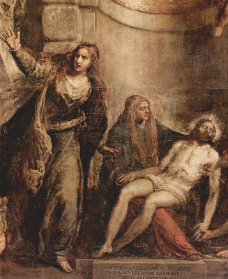 Titian Vecelli. Pieta. Fragment