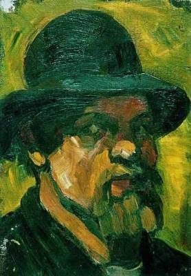 Theo van Dusburg. Self-portrait in a hat