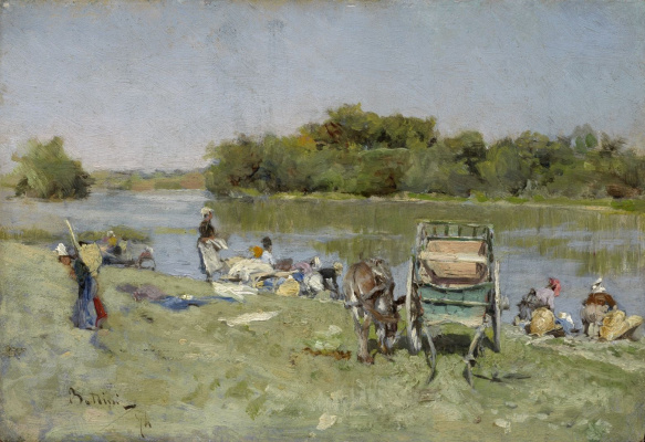 Джованни Больдини. Прачки. 1874