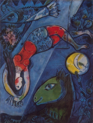 Marc Chagall. Blue circus