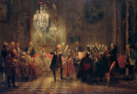 Adolf Friedrich Erdmann von Menzel. Flute Concerto of Frederick the Great in Sanssouci