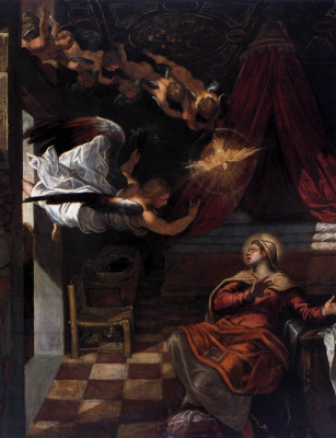 Jacopo (Robusti) Tintoretto. Annunciation. Fragment