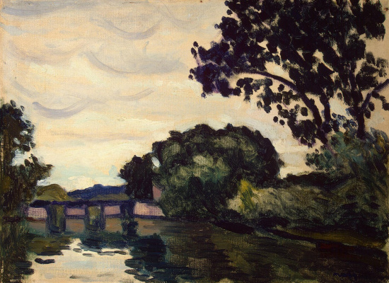 Albert Marquet. Landscape with bridge