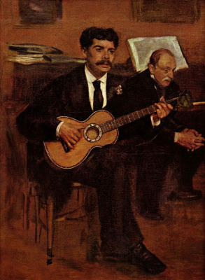 Edouard Manet. Guitarist pagan and Monsieur Degas