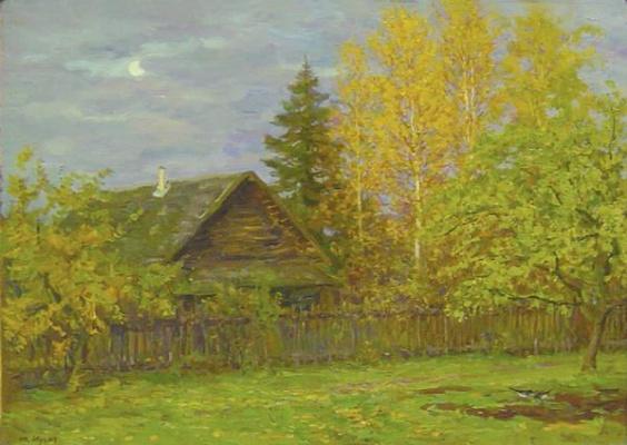 Yuri Petrovich Cugac. Autumn evening
