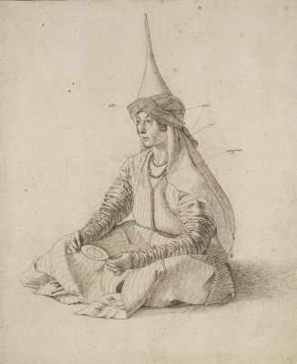 Gentile Bellini. Portrait of a Seated Turkish Woman