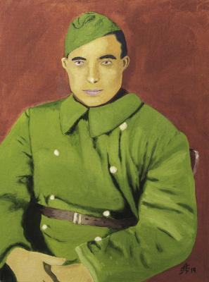 Artashes Badalyan. Portrait of a grandfather - x-hardboard-m - 40x30