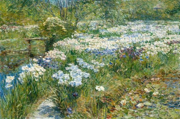 Childe Hassam. The Water Garden
