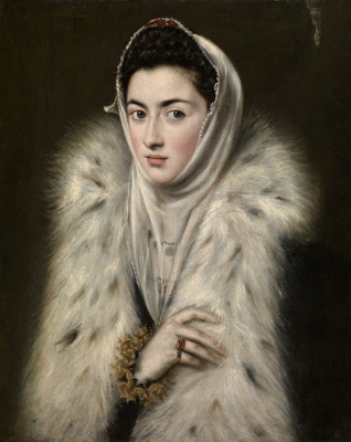 Domenico Theotokopoulos (El Greco). The Lady in a Fur Wrap