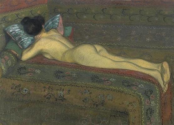 Theophile-Alexander Steinlen. Reclining Nude