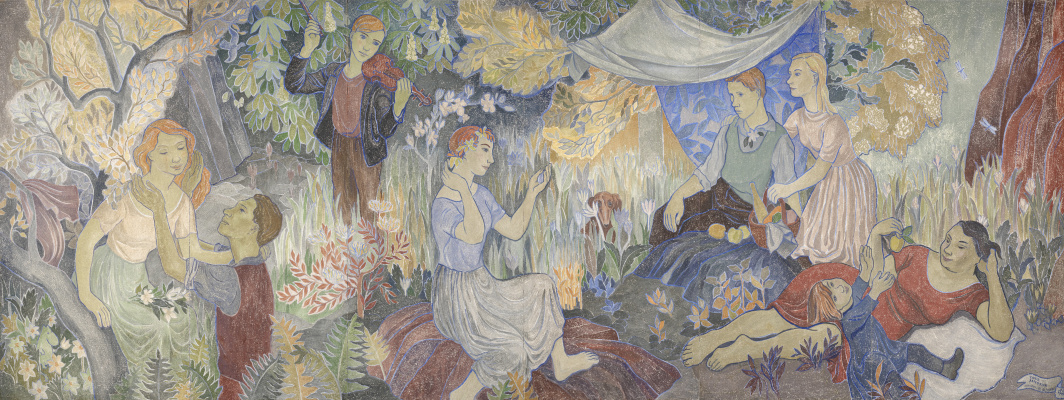 Tove Jansson. Holiday in the village. The painting of the City Hall of Helsinki