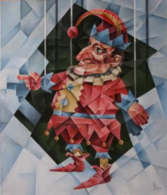 Vasily Krotkov. Punch. Kubofuturizm