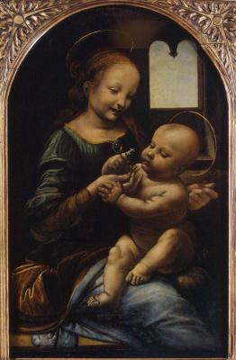Леонардо да Винчи. Мадонна Бенуа (Мадонна с цветком)