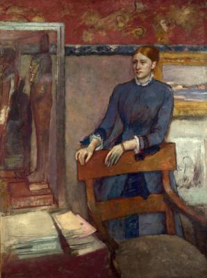 Edgar Degas. Helen Ruar in the Studio of his father
