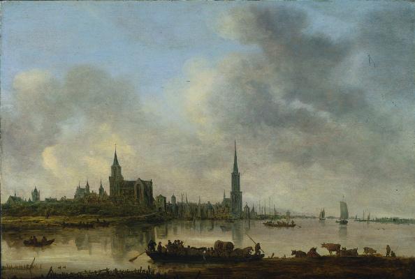 Jan van Goyen. View of the Emmerich