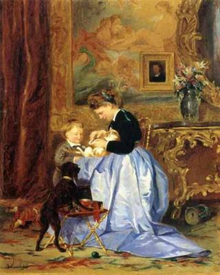 Валерий Иванович Якоби. Семья художника. 1867