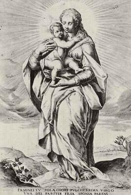 Доменико Тибальди. Мадонна с младенцем