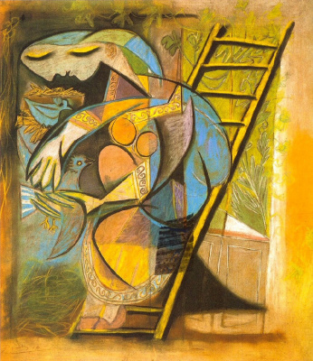 Pablo Picasso. Woman with pigeons