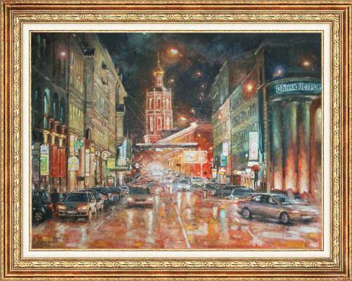 Igor Razzhivin. Night palette of the city.