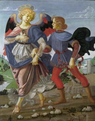 Андреа дель Вероккьо. Angel and Tobias