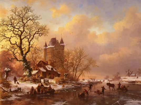 Фредерик Мариан Крусеман. Катание на коньках в разгар зимы