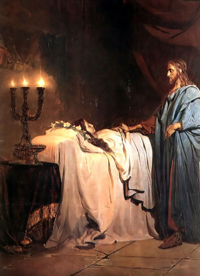 Ilya Efimovich Repin. The resurrection of Jairus's daughter. Fragment